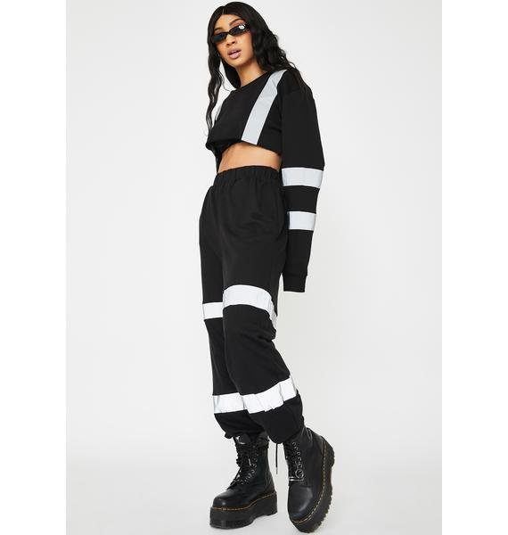 Kiki Riki Over Tha Limit Reflective Joggers
