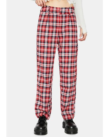 Fire Homeroom Hottie Plaid Pants