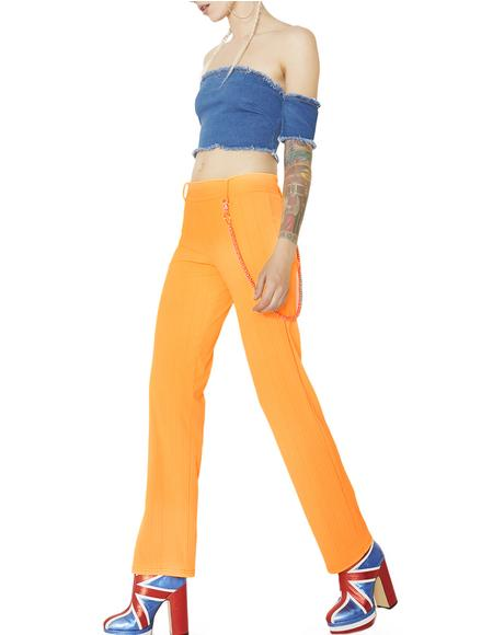 Radioactive Neon Ribbed Pants