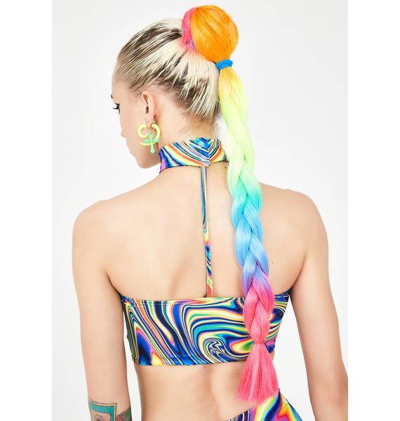 Get Braidified Make It Rain-Bow Hair Extensions