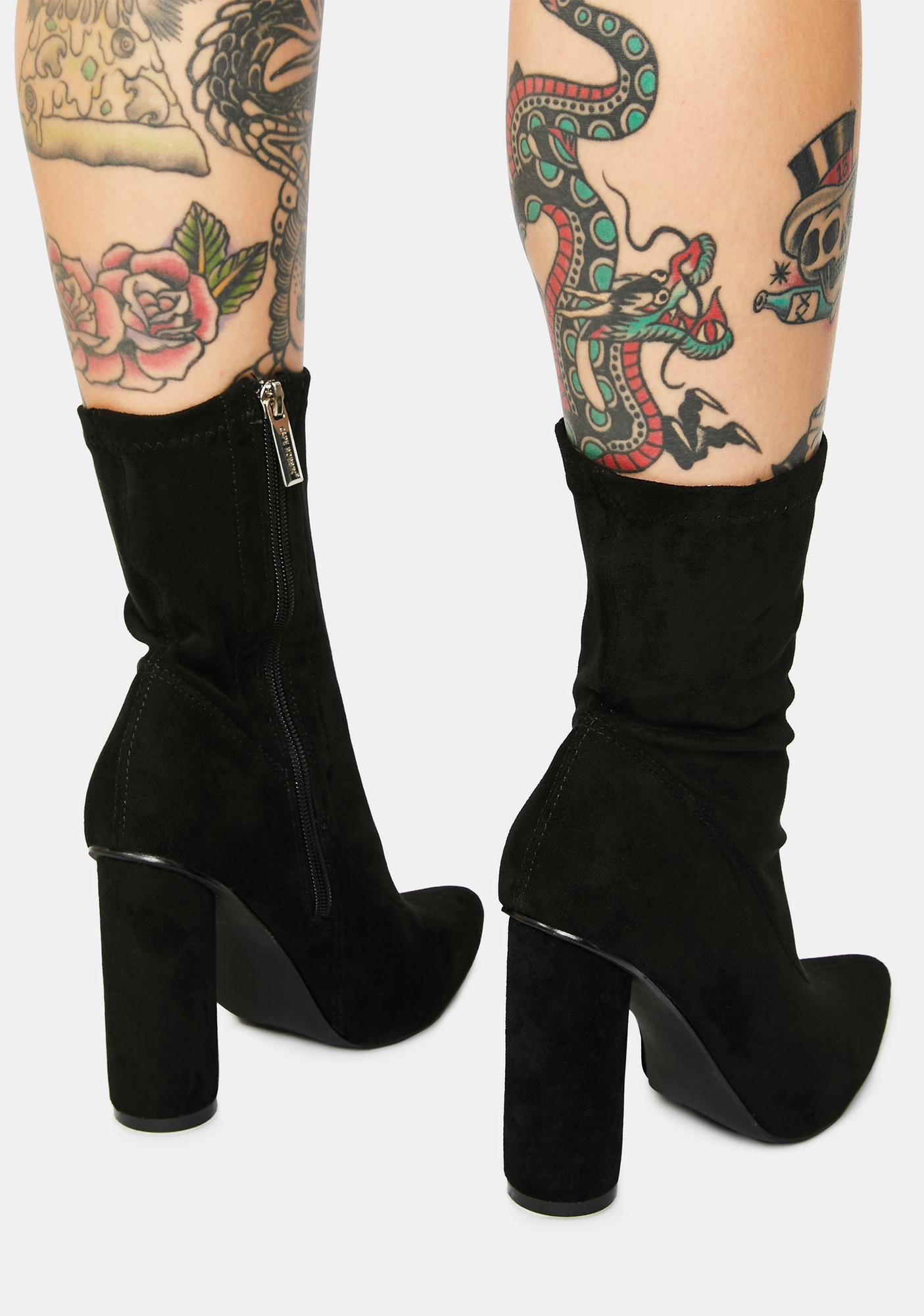 Dark Sexpot Ankle Boots