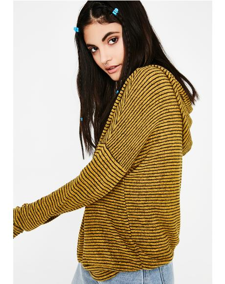 Pull Up Striped Sweater
