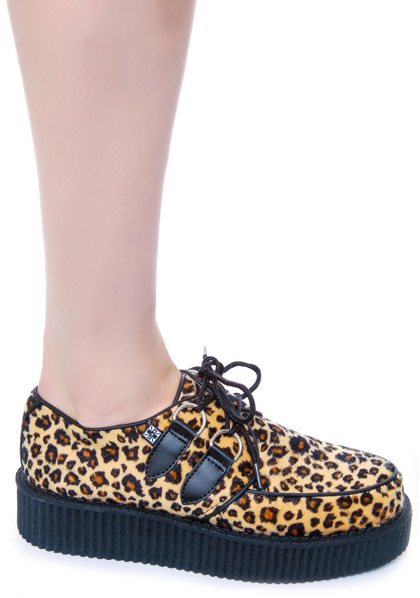 T.U.K. Leopard Round Low Creeper