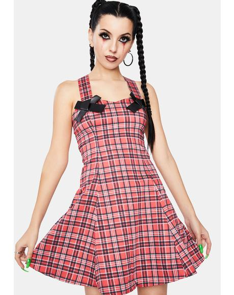 Evangeline Punk Tartan Mini Dress