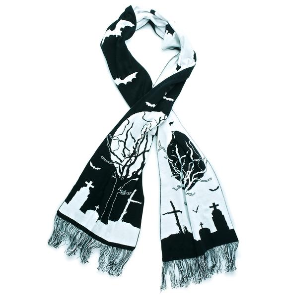 Too Fast Eerie Cemetery Scarf