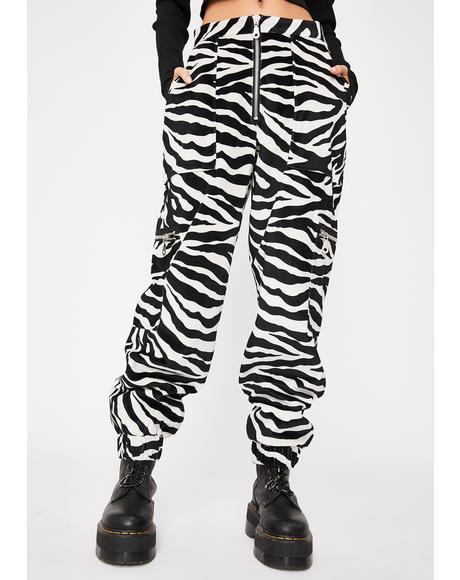 Brat Zebra Cargo Pants
