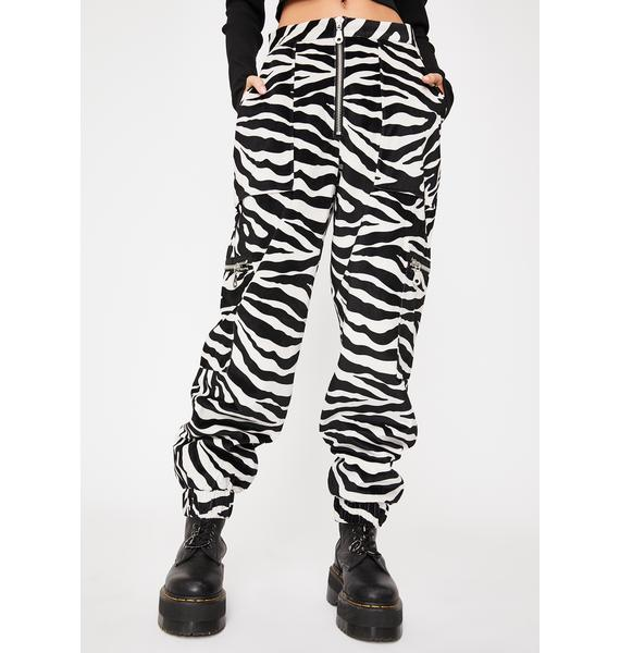 The Ragged Priest Brat Zebra Cargo Pants