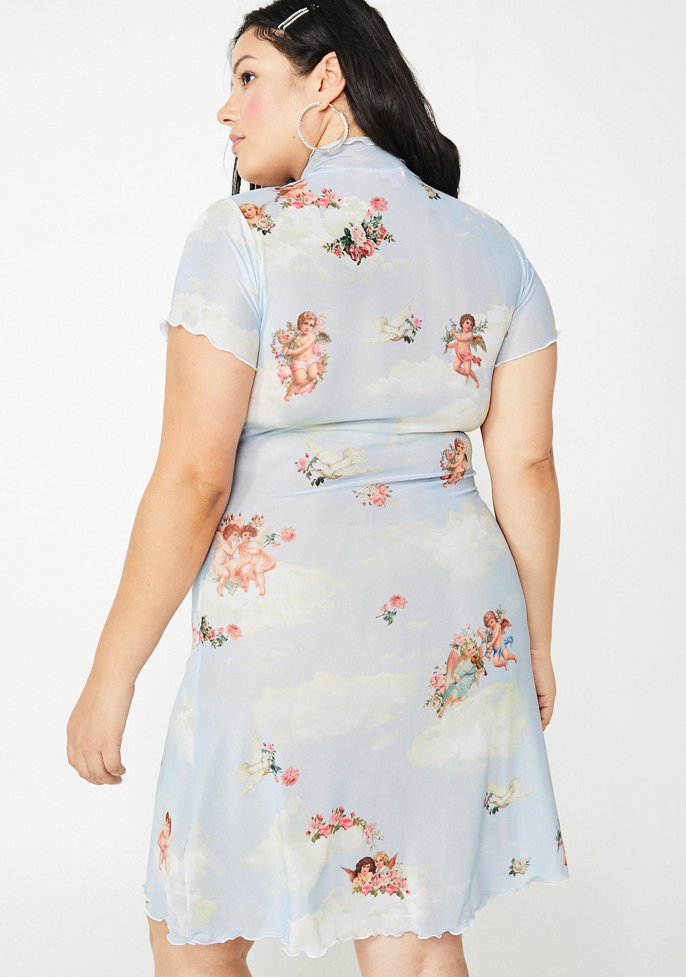 Sugar Thrillz Miss Celestial Sass Mesh Dress