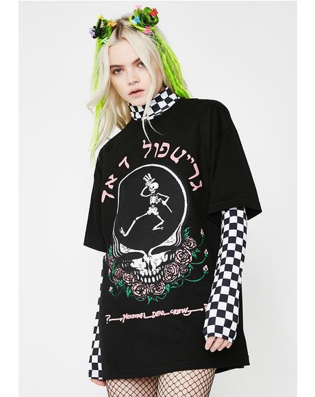 Skull & Rose T Shirt