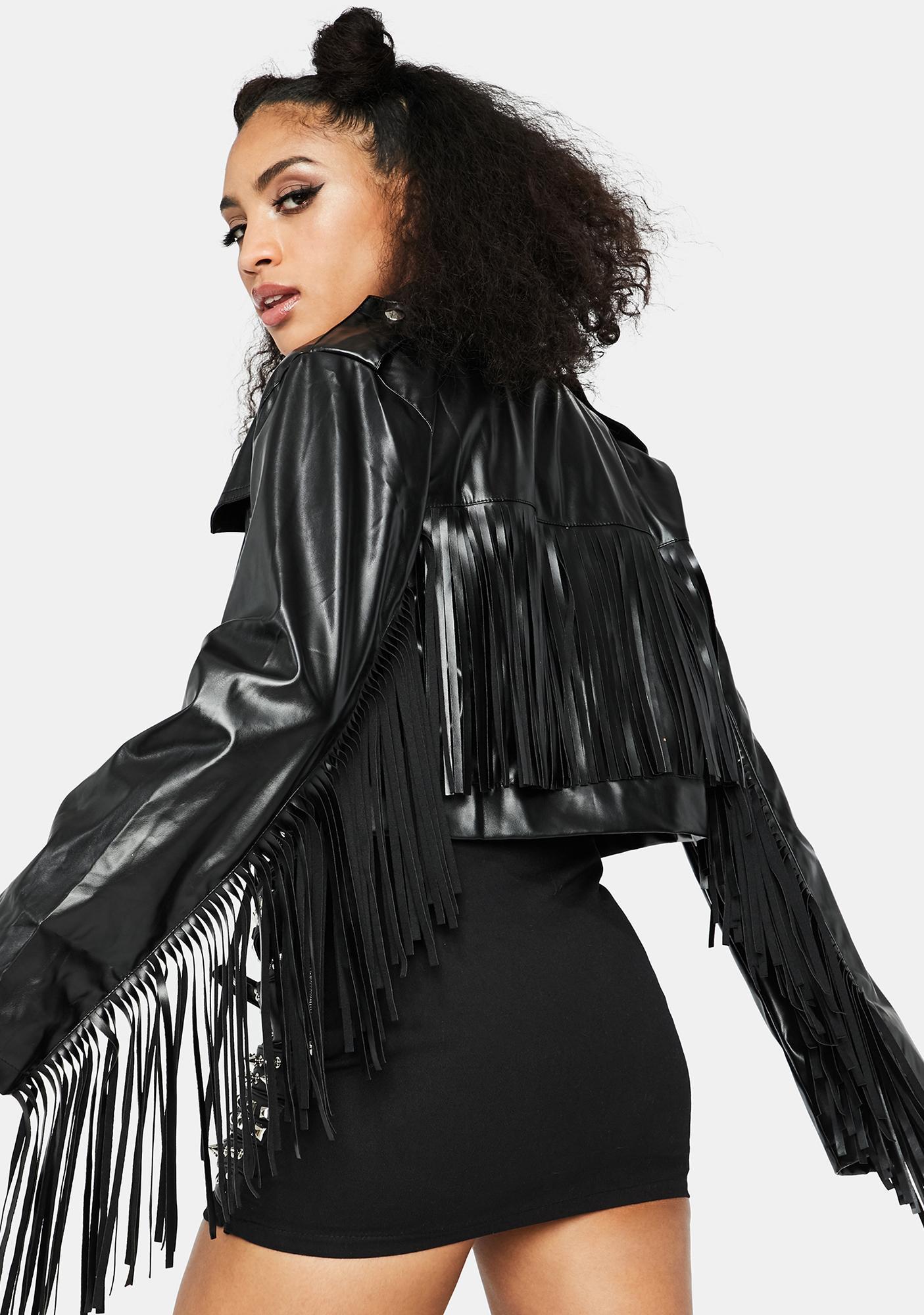 Moto Mama Fringe Jacket