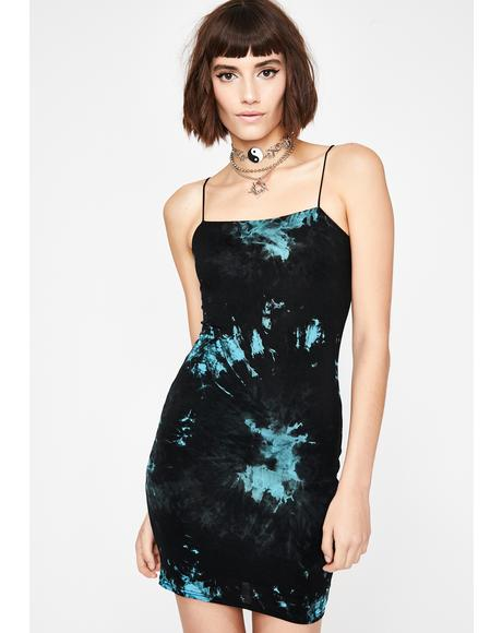 Aqua Curfew Crusader Tie Dye Dress