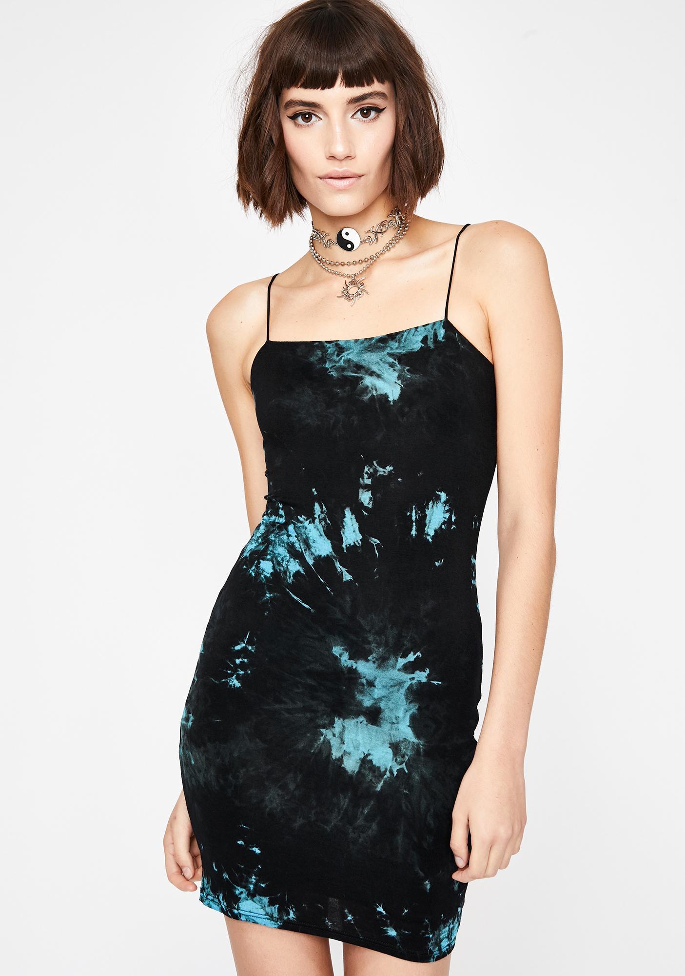 Aqua Curfew Crusader Tie Dye Dress