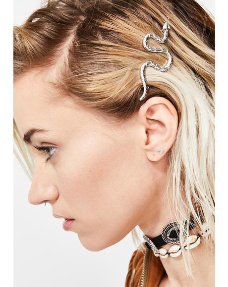 Sassy Serpent Hair Clip