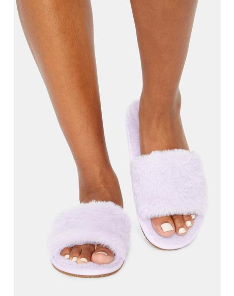 Magic Fluff With Me Fuzzy Slipper Slides