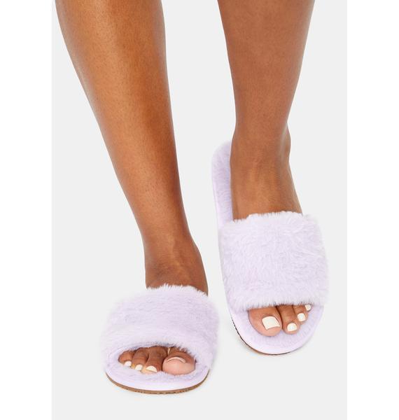 Magic Fluff With Me Fuzzy Slipper Slides