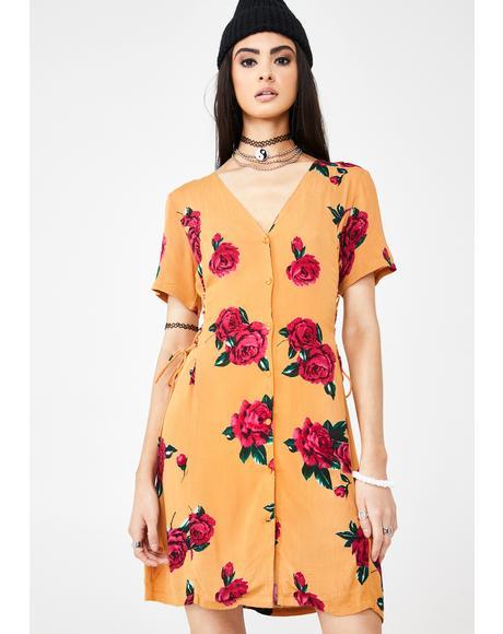Runnin Late Floral Dress