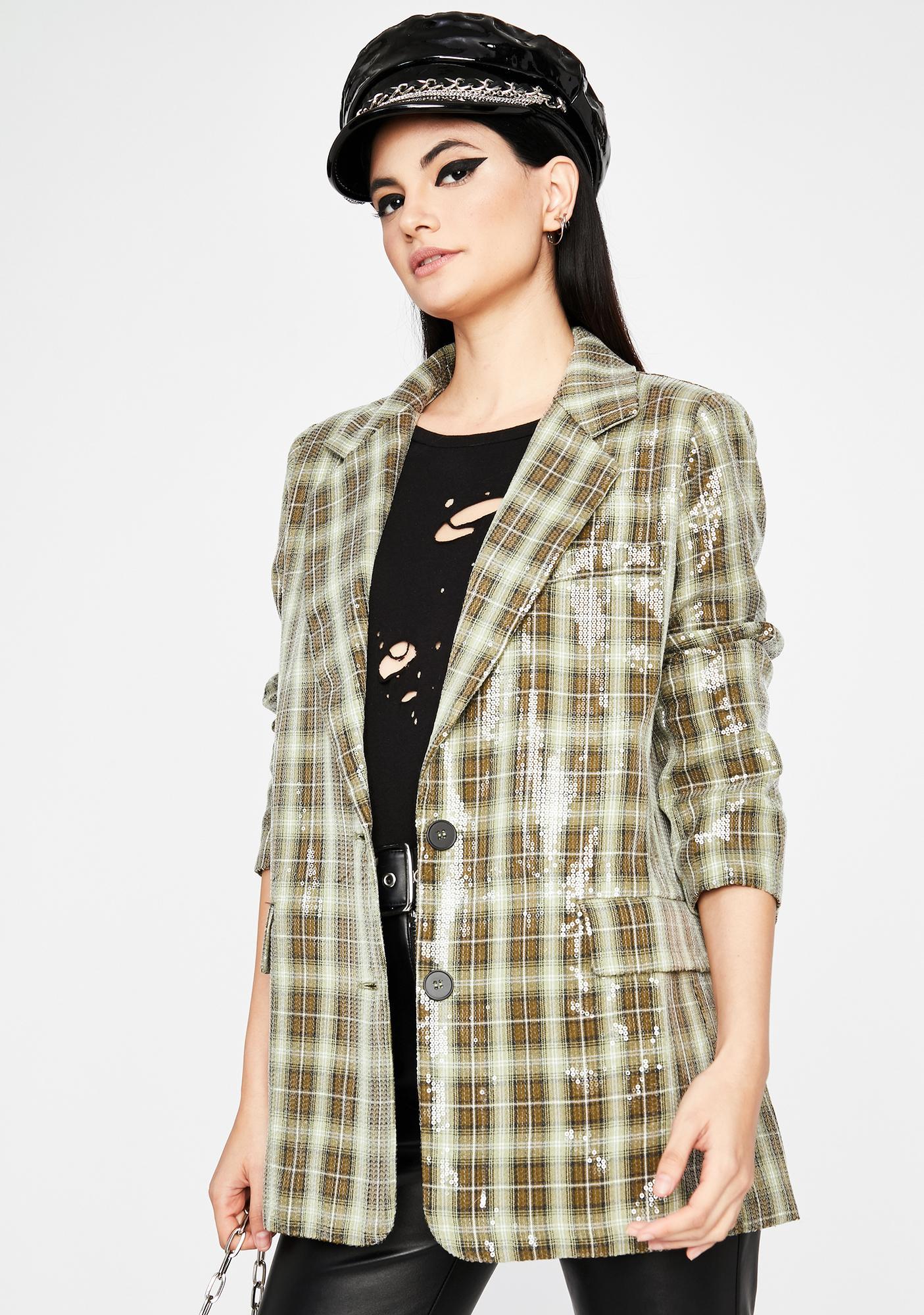Attitude Check Sequin Blazer
