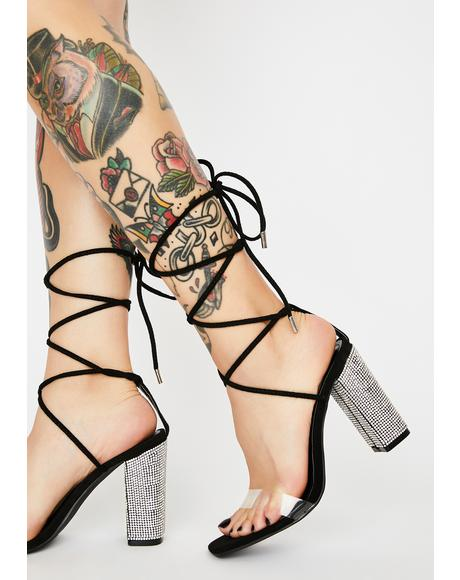 Backstage Pass Wrap Heels