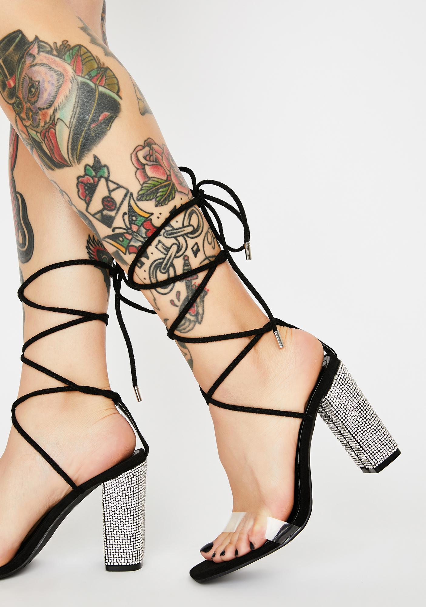 Backstage Pass Wrap Heels