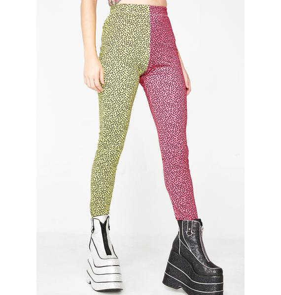 Club Exx Harsh Lines Colorblock Unisexx Leggings