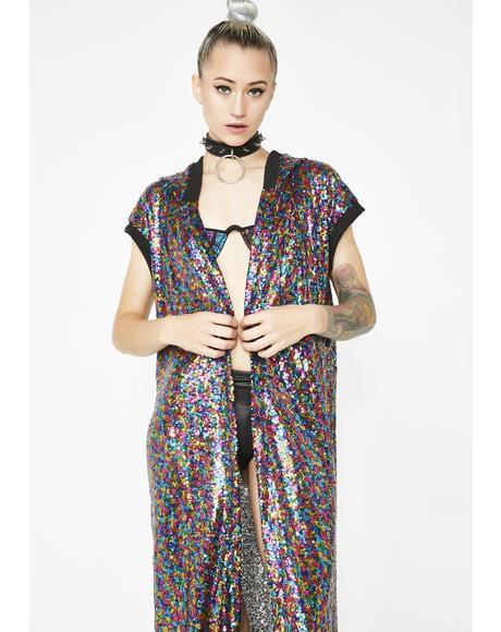 Love Drug Sequin Kimono