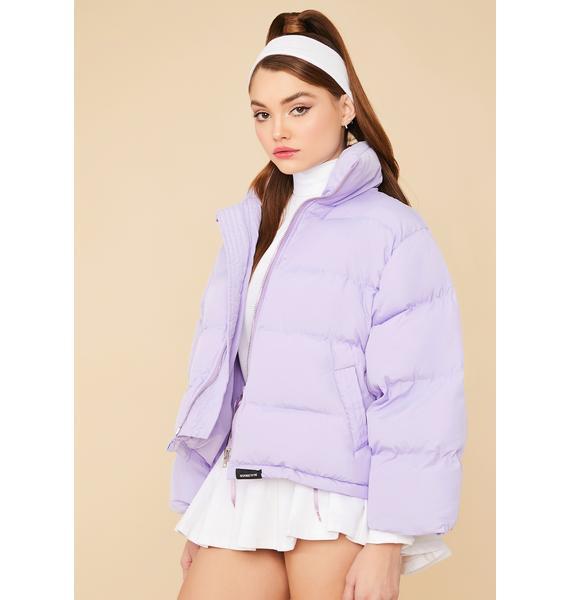 Fairy Cuddle Bug Cropped Puffer Jacket