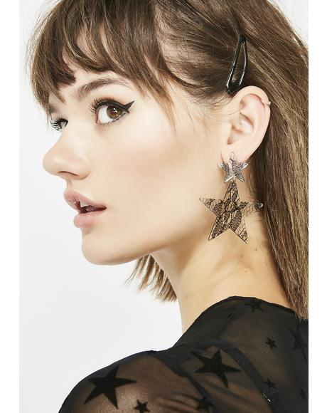 Star Gazing Lace Inlay Earrings