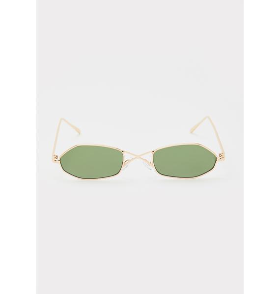 Unbothered Boo Oval Sunglasses
