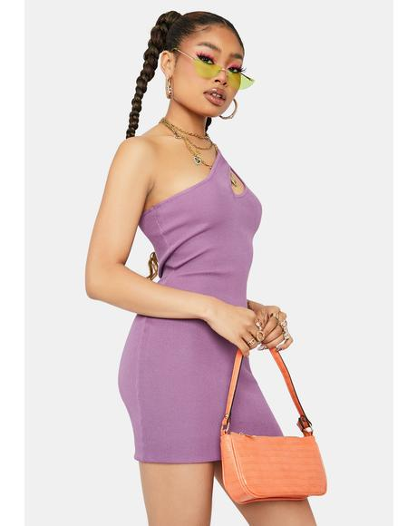 Fairy Fantastic One Shoulder Cutout Bodycon Dress