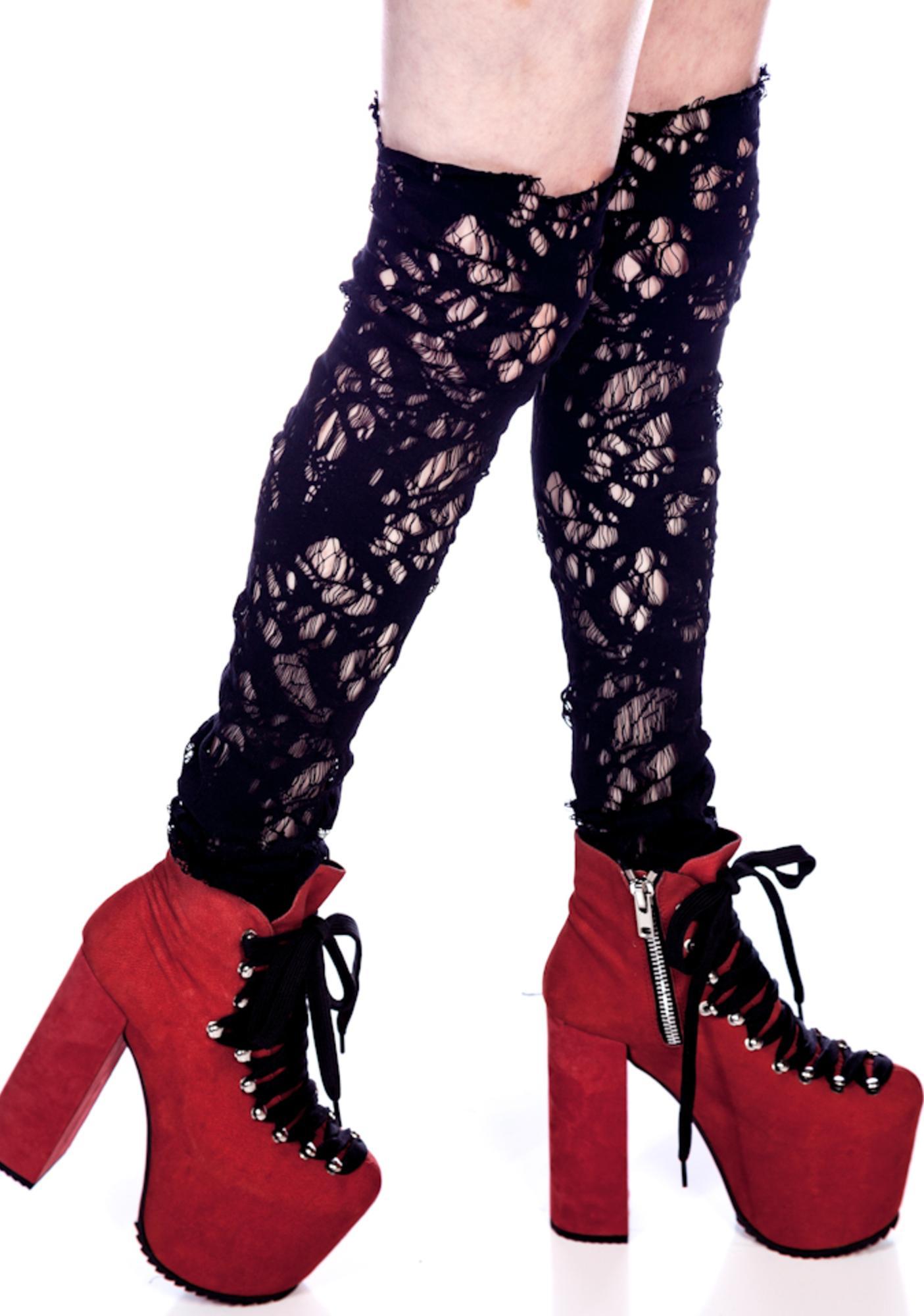 Debby Lace Leg Warmers
