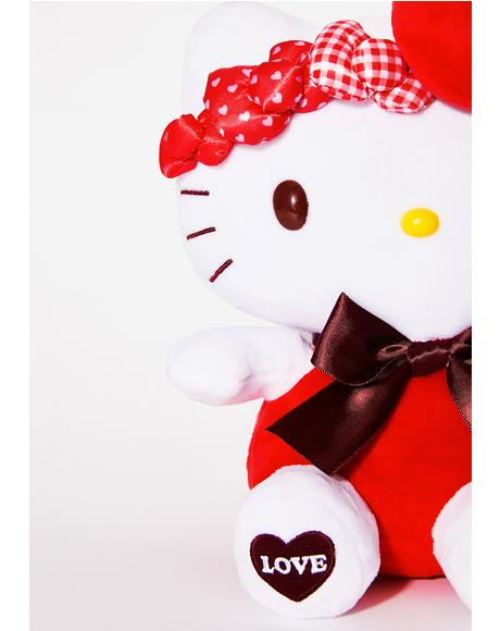 Red Bow Hello Kitty Plush