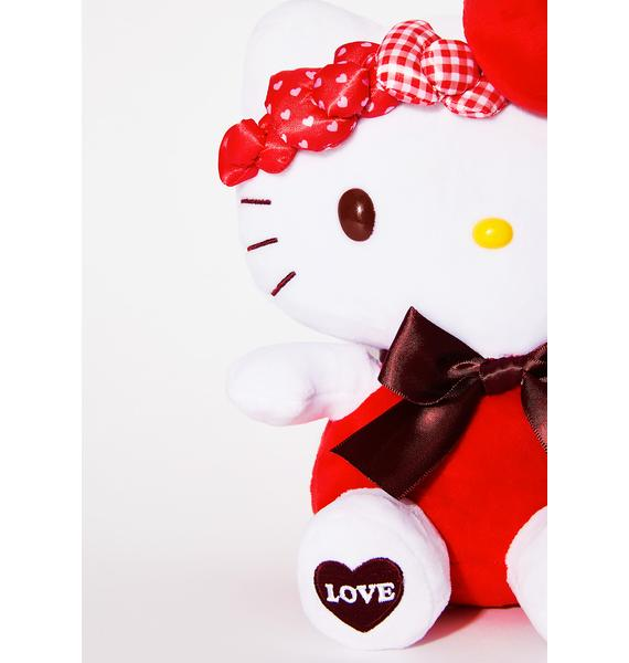 Sanrio Red Bow Hello Kitty Plush