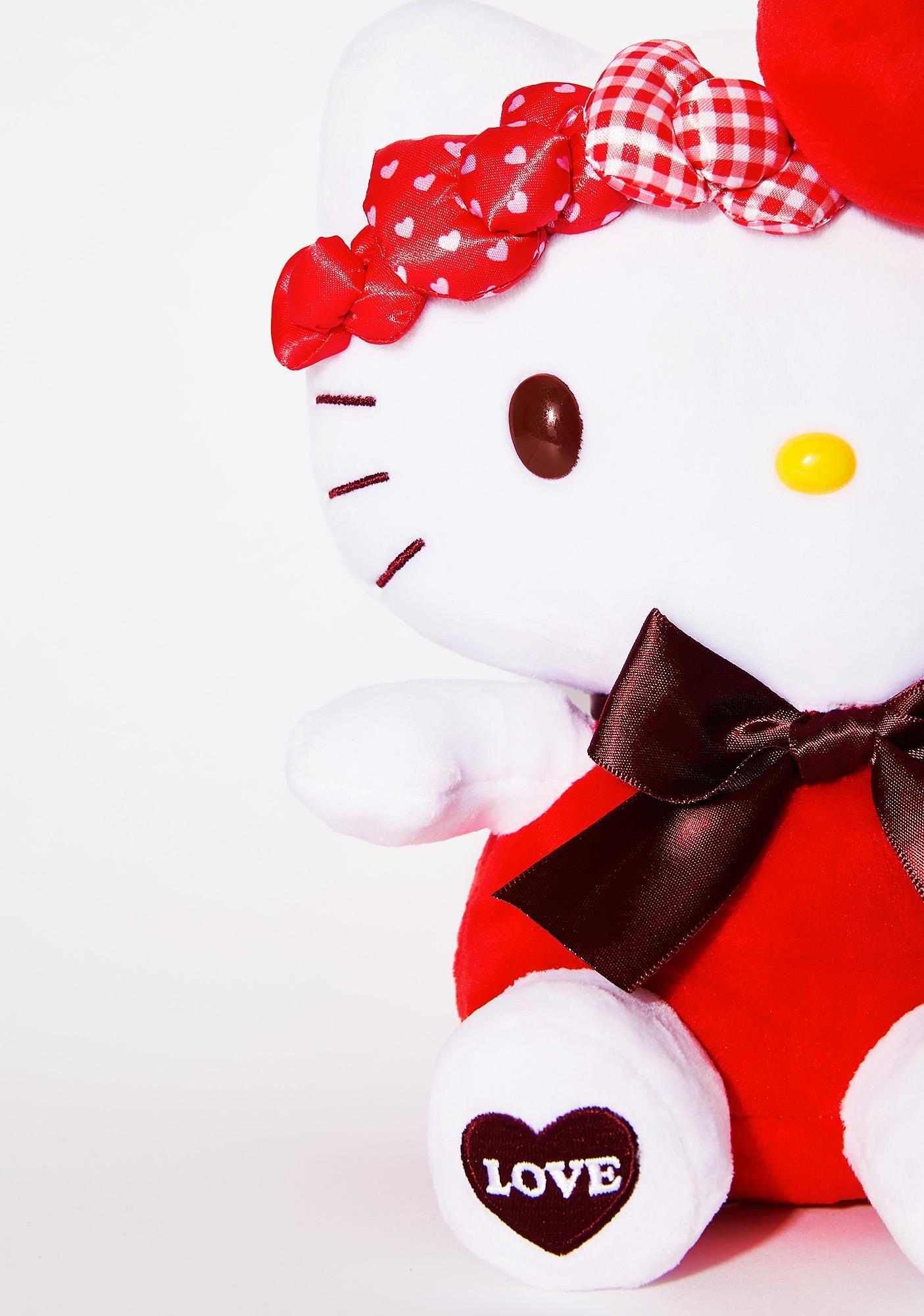 Sanrio Red Bow Hello Kitty Plush