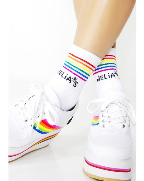 Fun All Day Striped Socks