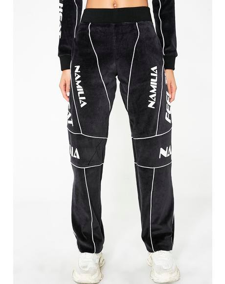 Dark Velour Motocross Trousers
