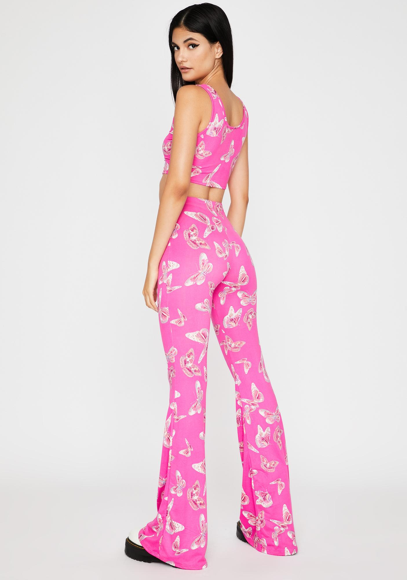 Sugar High Butterfly Pant Set