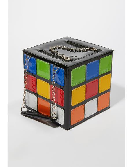 Can't Solve Me Rubik's Cube Handbag