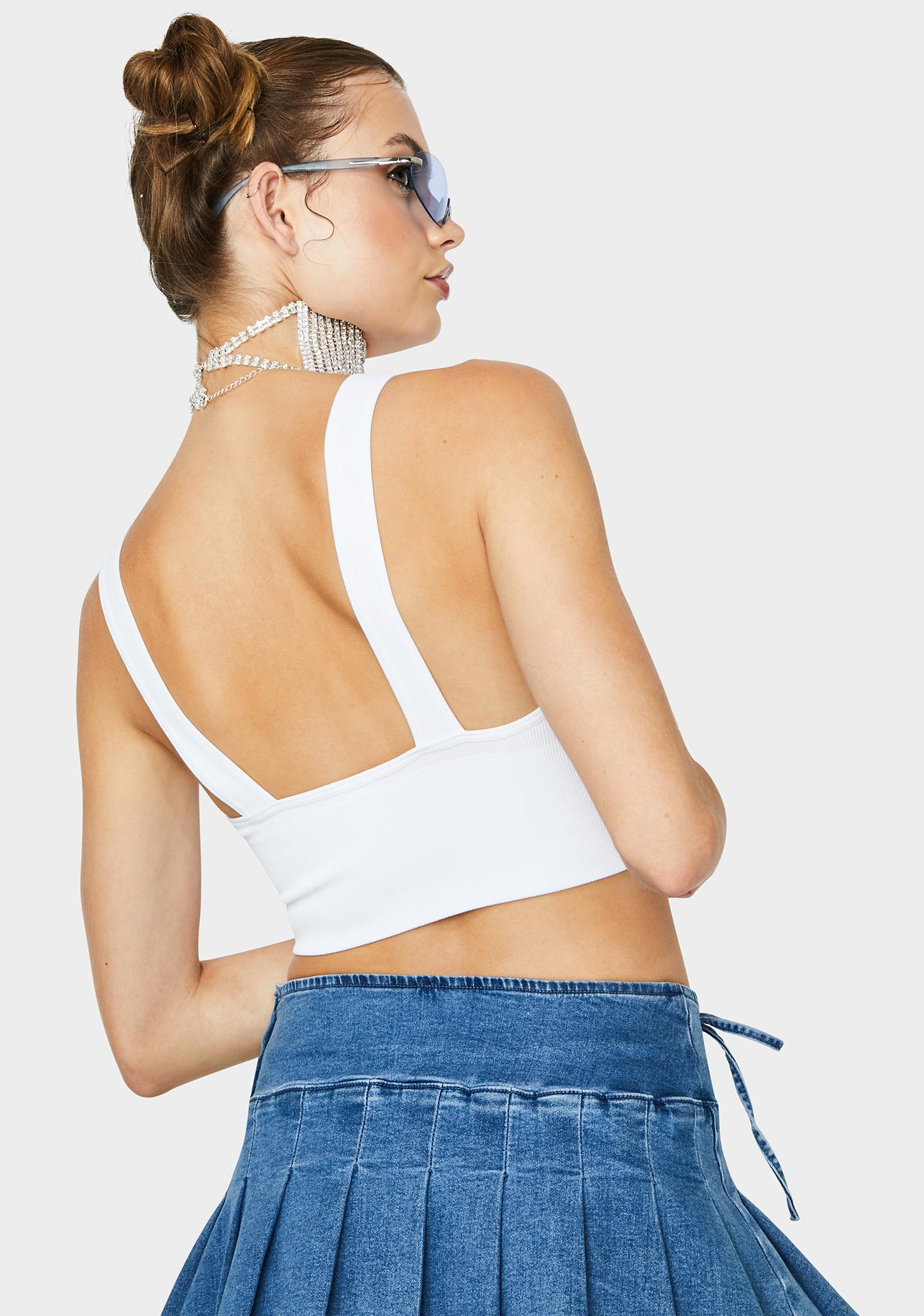 Blanc Go On Forever Crop Tank