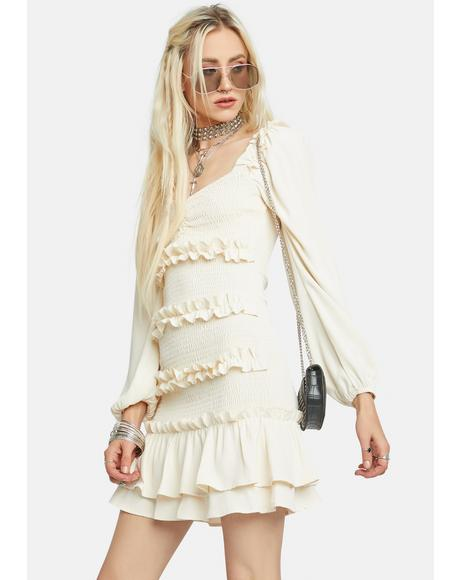 Lost Wanderer Ruffled Mini Dress