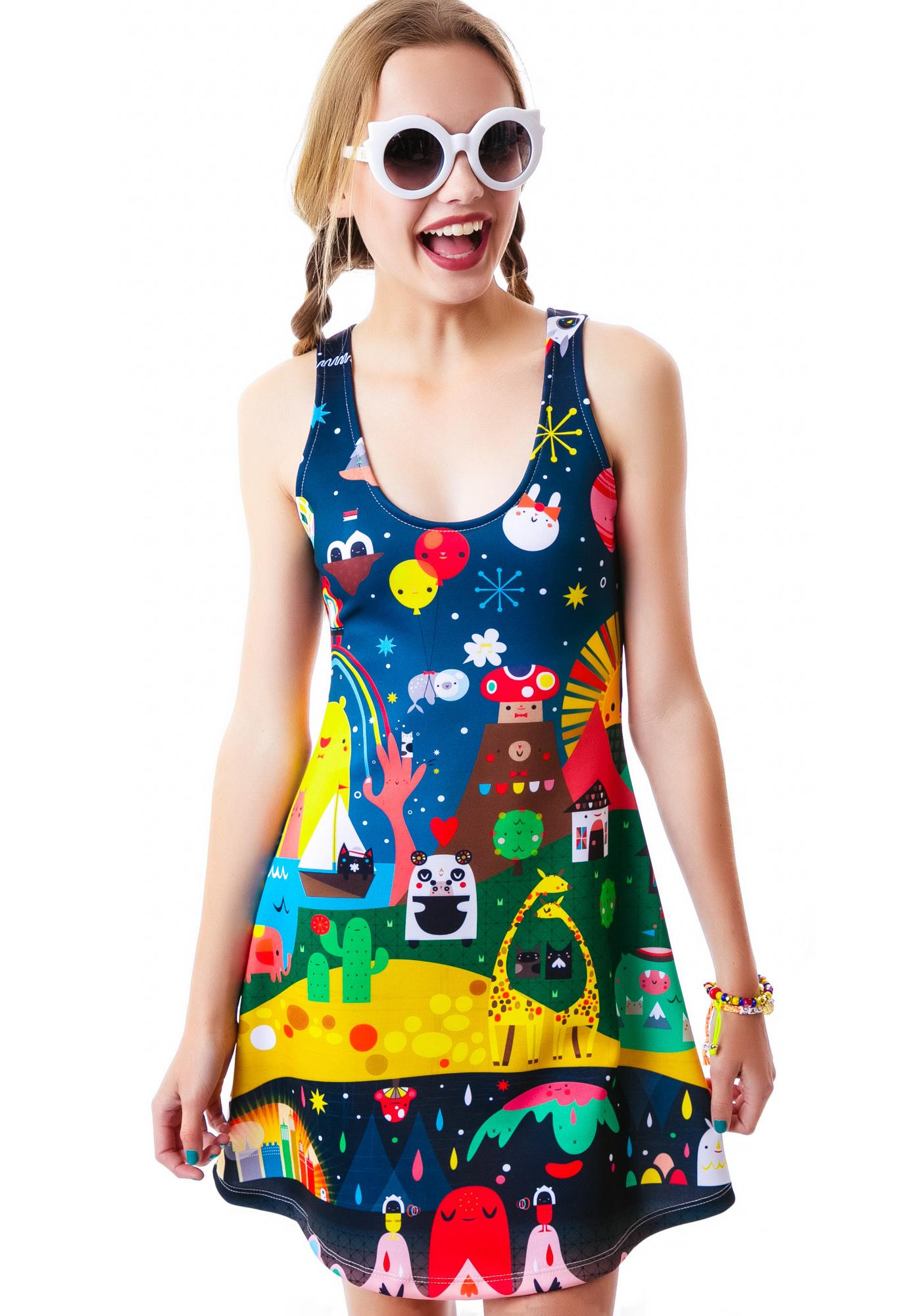 Japan L.A. Super Mini Universe Dress