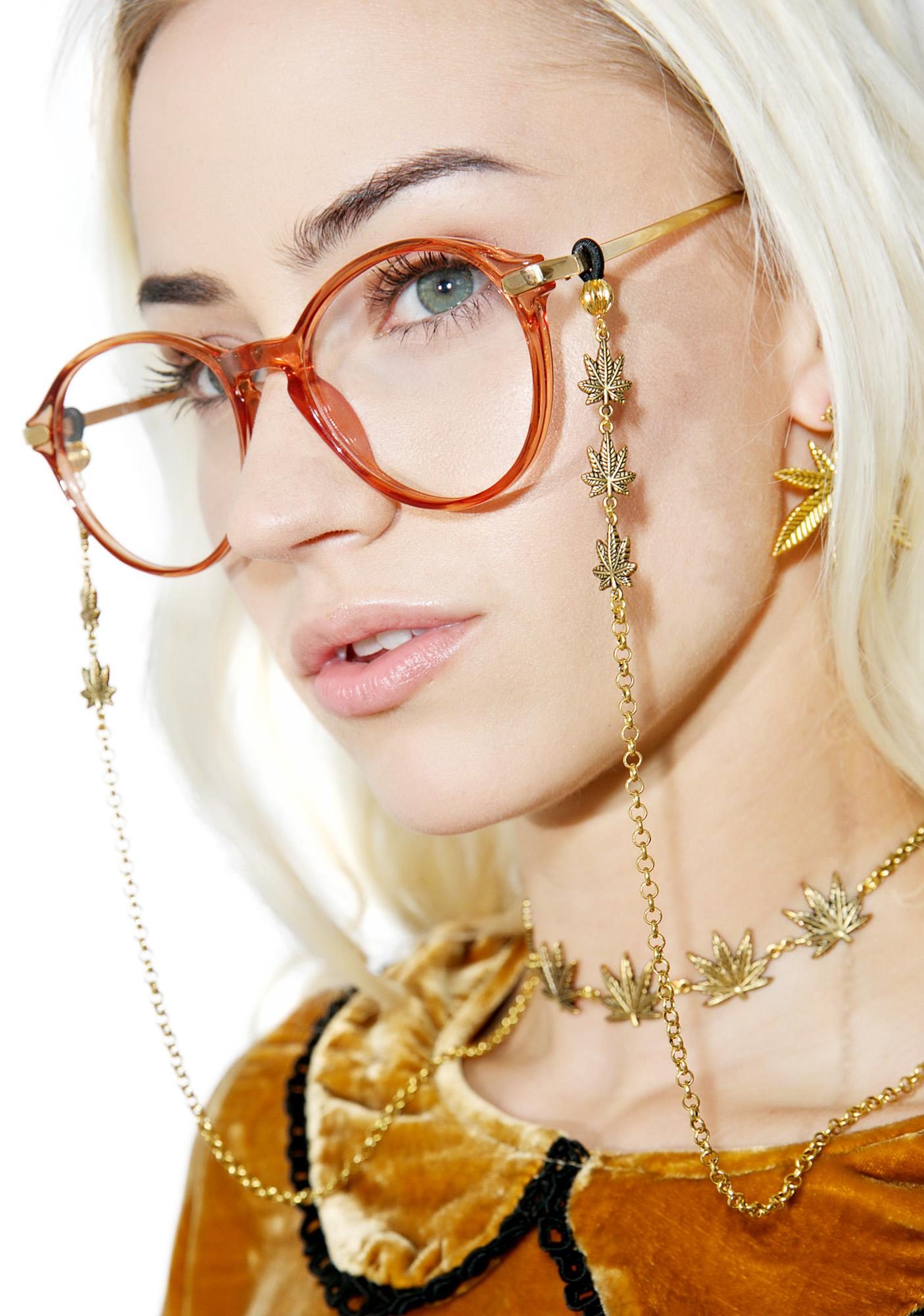 Blunted Objects Trinity Weed Leaf Glasses Chain