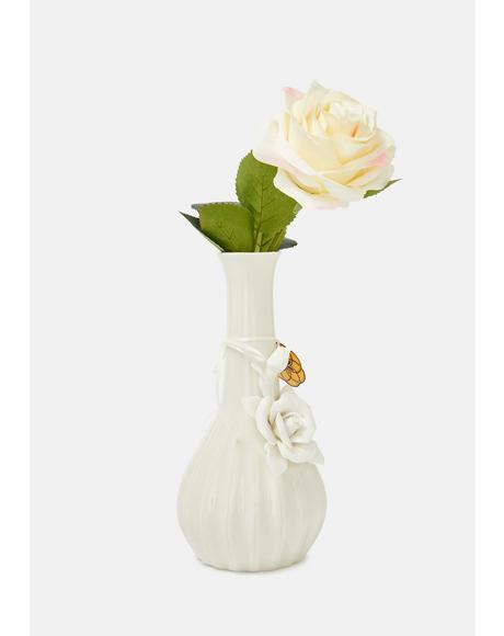 Rose Floral Bud Vase Bong