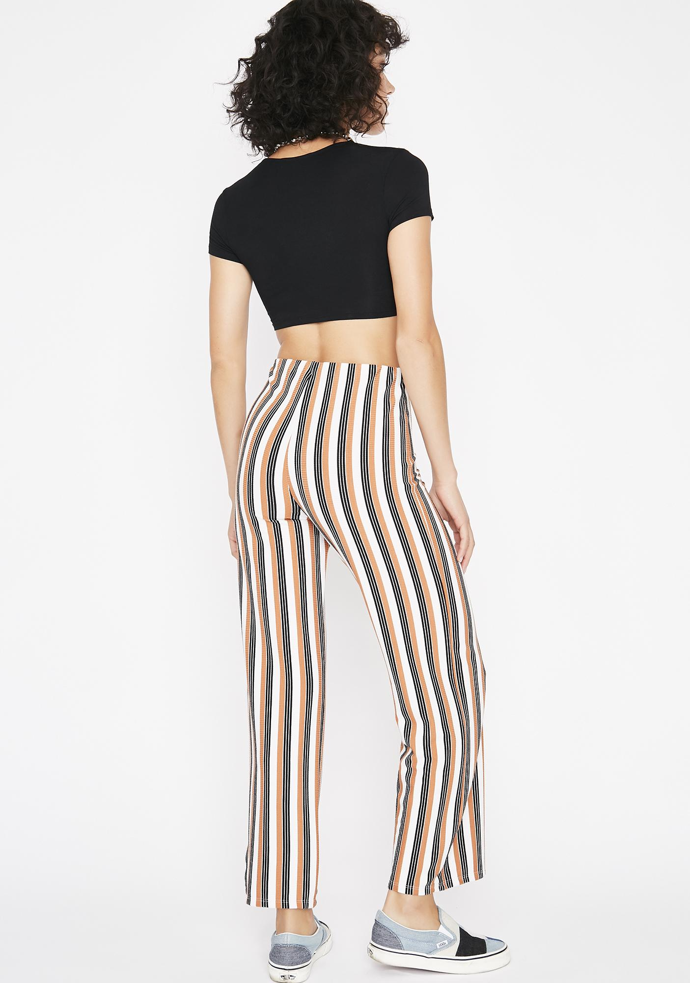 Round N Round Striped Pants