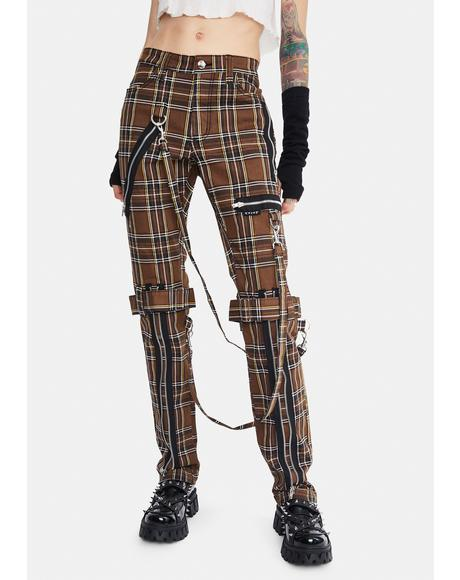 Desert Plaid Bondage Pants