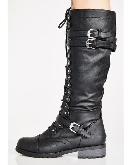 Dust Devil Knee High Boots