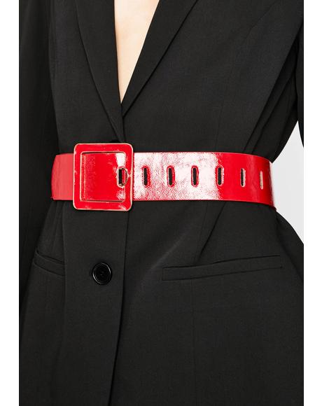 Hot Corner Office Babe Patent Belt