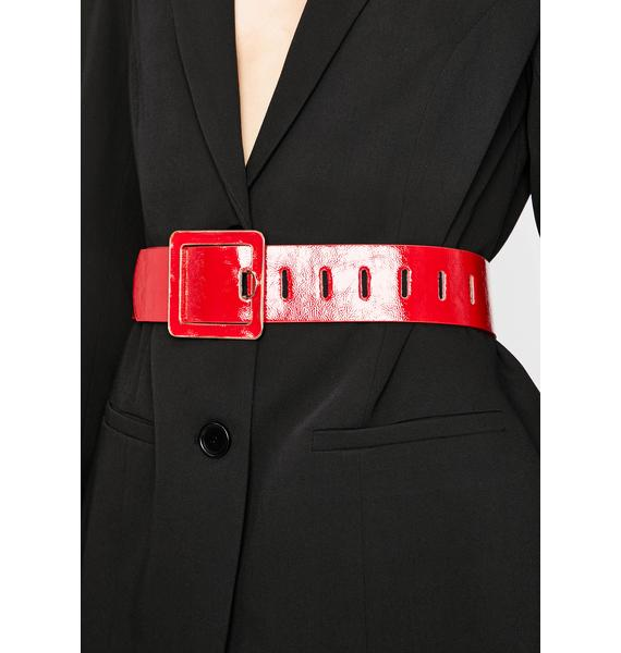 Hot Corner Office Babe Patent Belt