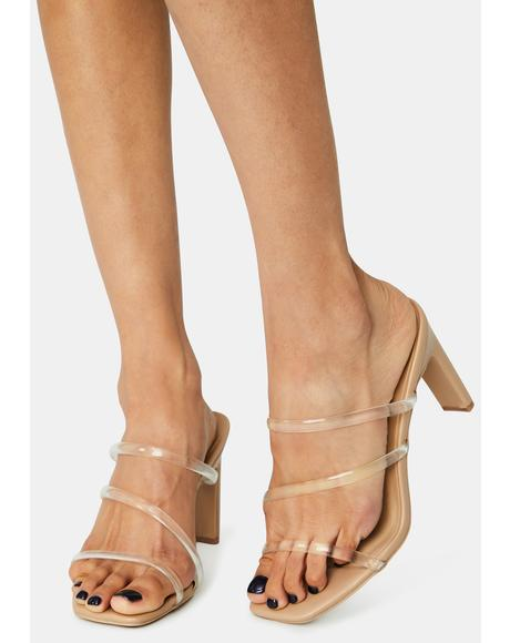 Nude Next Trend Strappy Heels