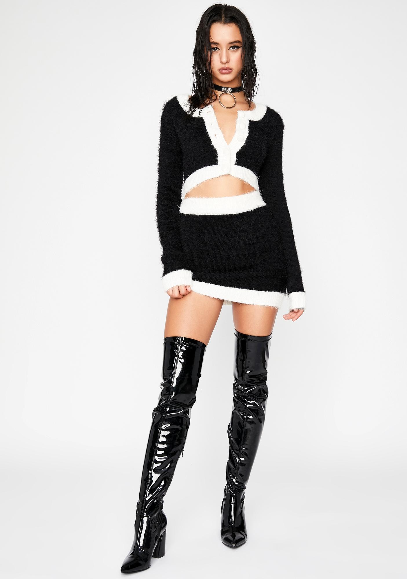 HOROSCOPEZ Independent Woman Fuzzy Cardigan