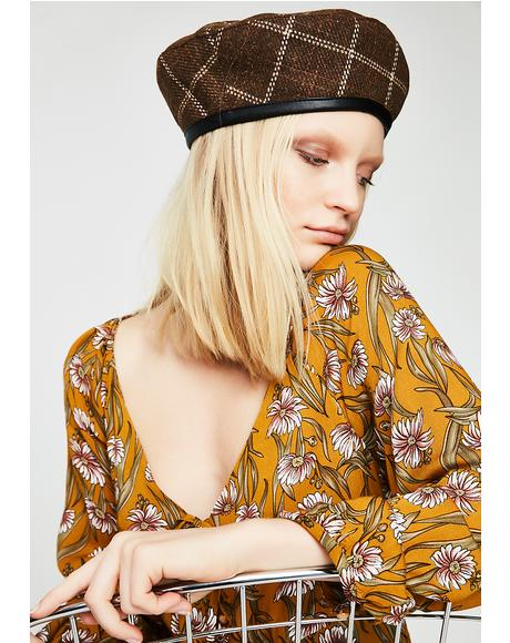 Came To Mind Plaid Beret